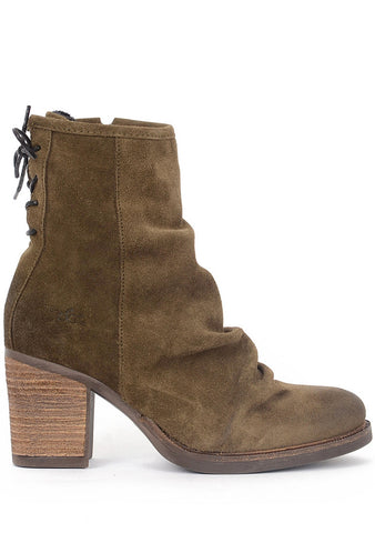 Bos and Co Shoes Barlow Ruched Bootie, Moss