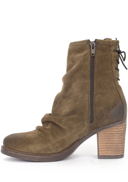 Bos and Co Shoes Barlow Ruched Bootie, Moss 37