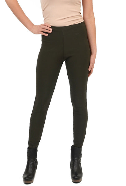 Equestrian Ribbed Deonna Legging, Tobacco XSmall
