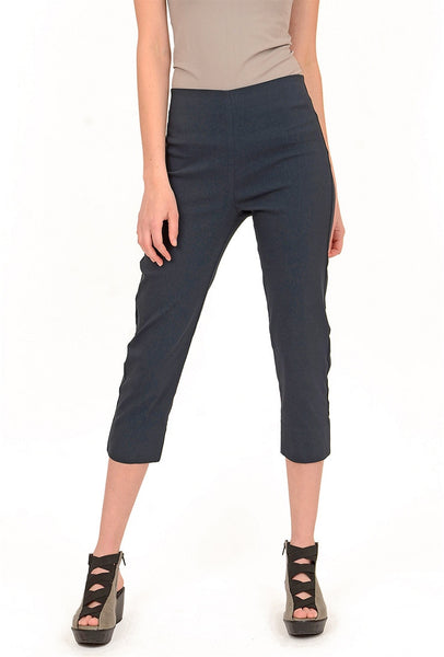 Equestrian Mindy Cropped Pant, Gunmetal