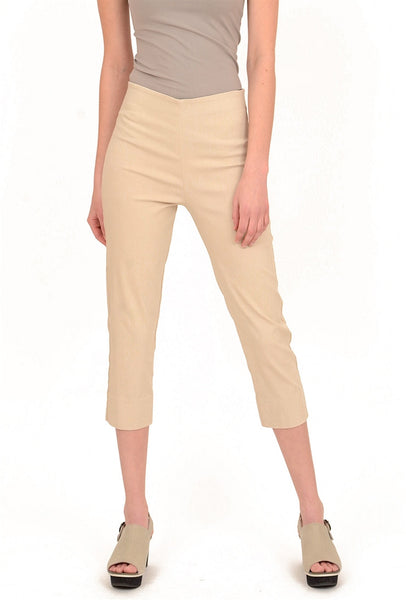 Equestrian Mindy Cropped Pant, Stone XSmall