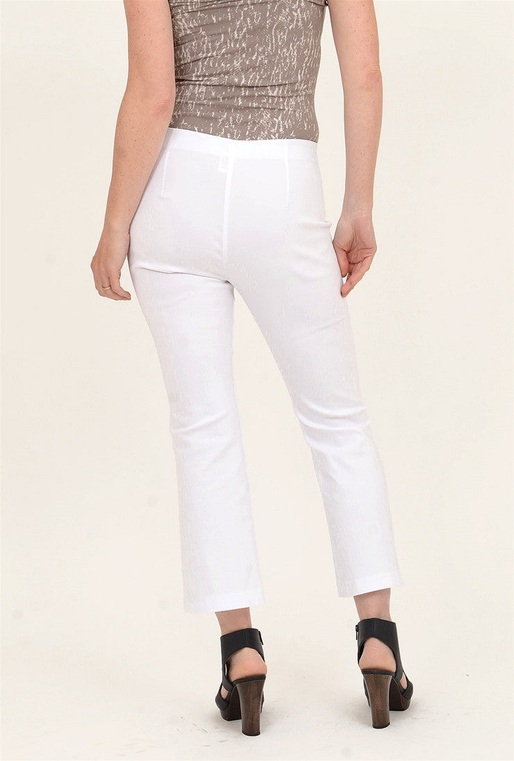 Equestrian Miley Crop Pant, White