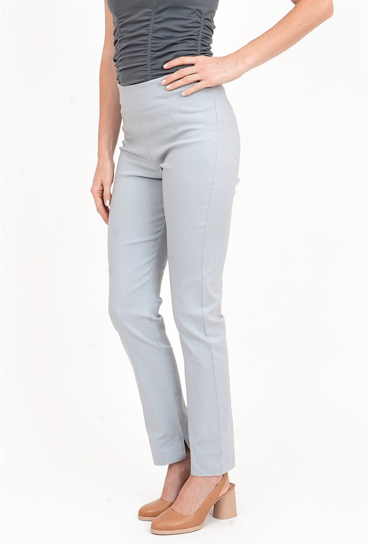 Equestrian Zani Long Stretch Twill Pant, Silver