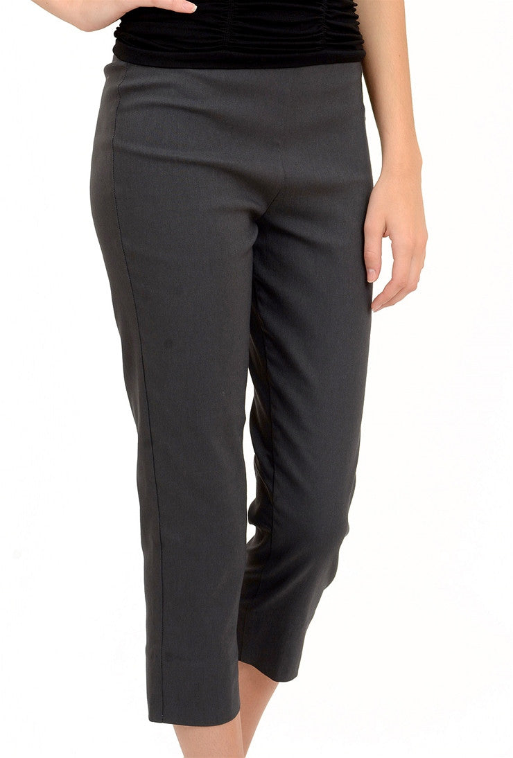 Equestrian Mindy Cropped Pant, Dark Gray