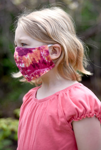 Color Me Cotton CMC Kiddie Mask, Pink Tie-Dye