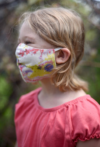 Color Me Cotton CMC Kiddie Mask, Yellow Print