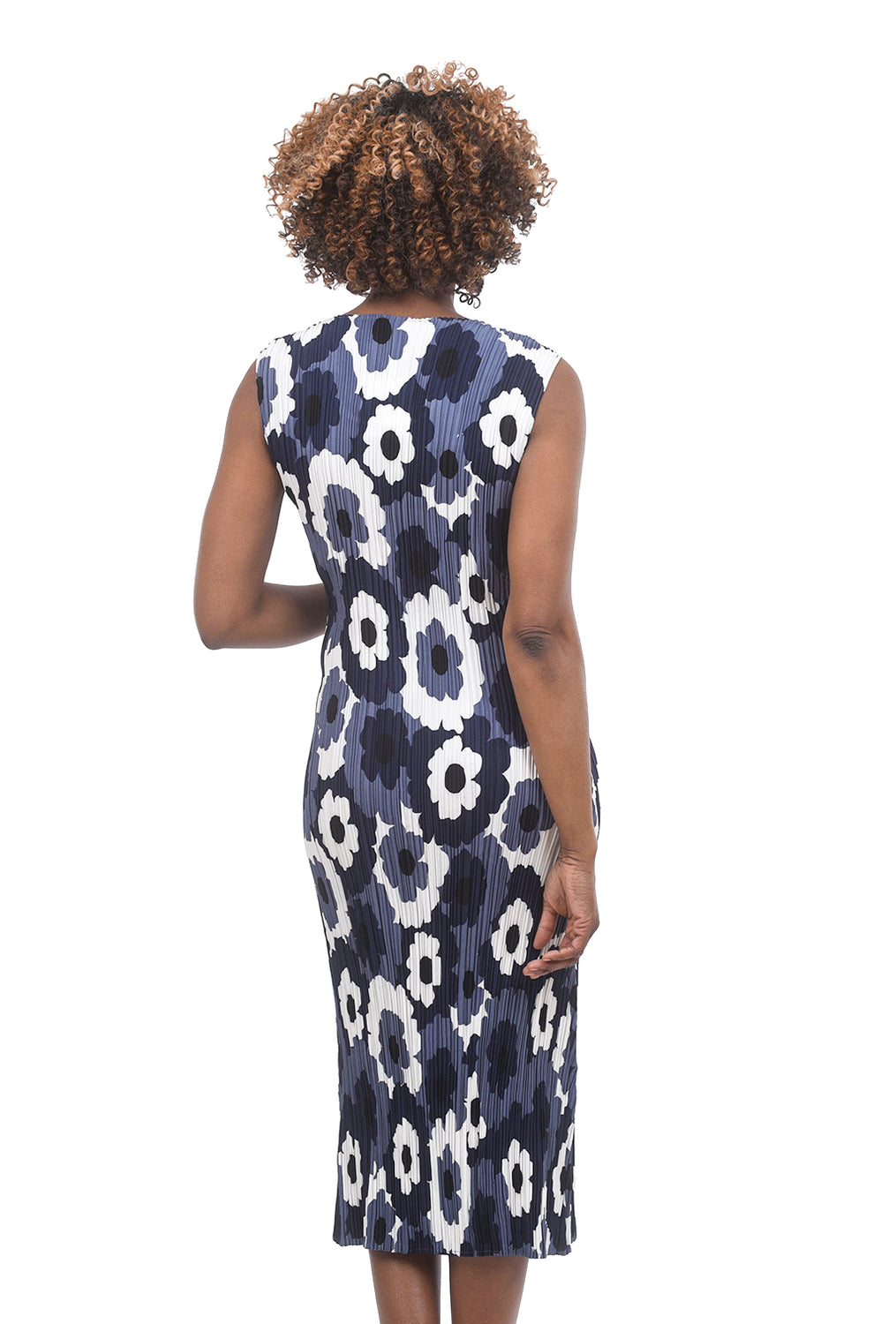 Alquema Crinkled Lara Dress, Blue Floral
