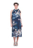 Tempo Paris Halter Neck Floral Dress, Blue