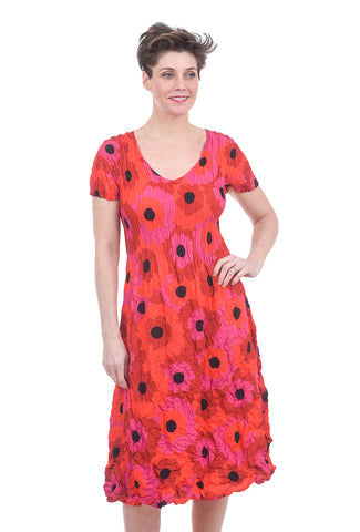 Alquema Special Print Smash Dress, Red Floral