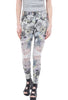 Grizas Scribble Garden Leggings, White/Pink