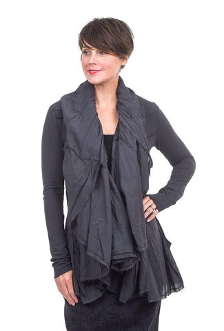 Rundholz Black Label Romance Ruffle Jacket, Dark Gray