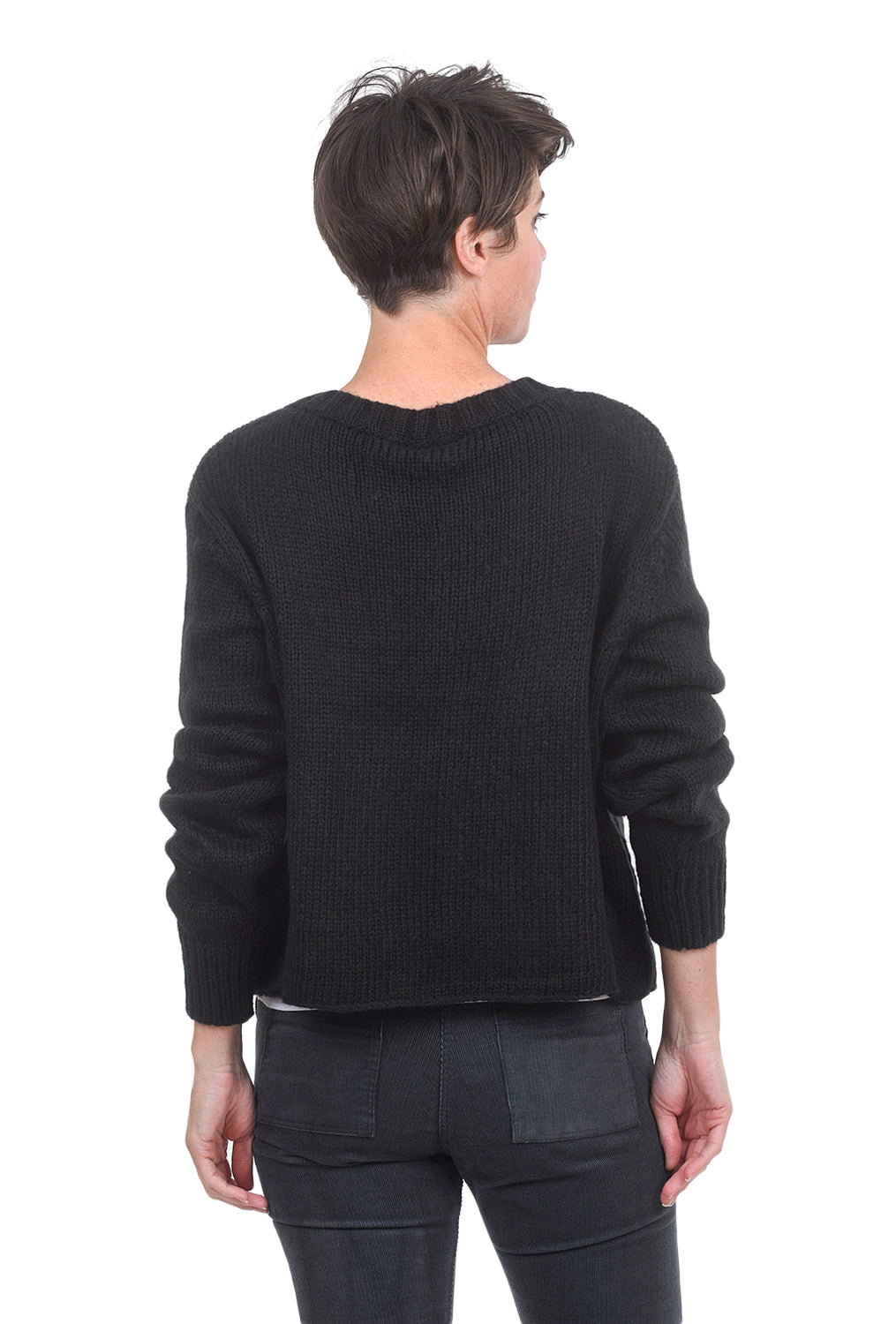 Wooden Ships Chunky Game On Sweater, Black/Cement