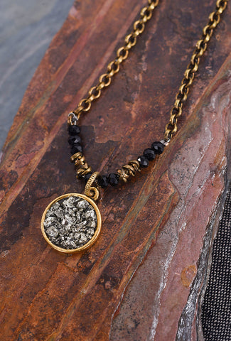 Marly Moretti Pyrite Roundel Necklace