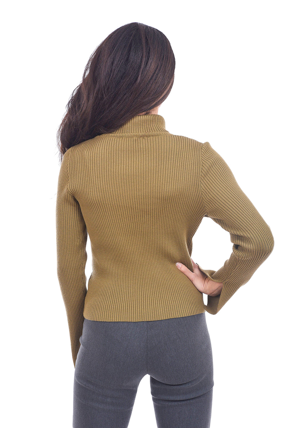 Kerisma Knits Gretchen Turtleneck, Light Olive