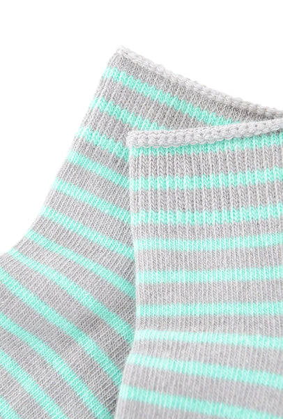 Little River Sock Mill Striped Bootie, Heather/Ice Green
