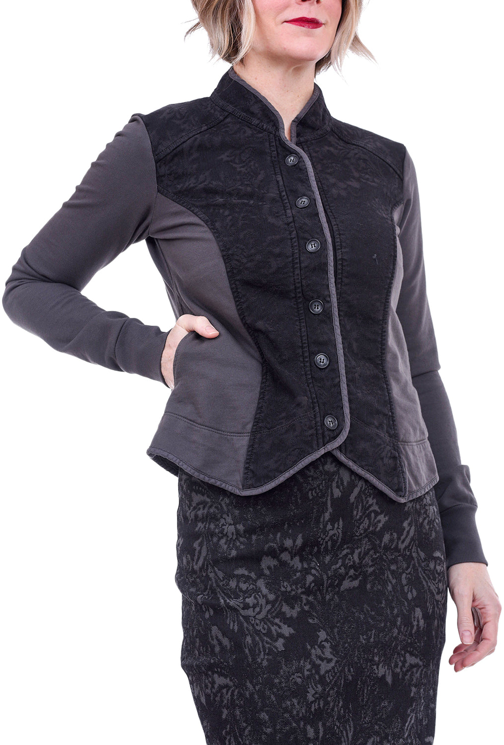 Prairie Underground Floral Co-Op Jacket, Graphite Gray