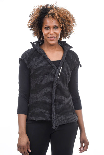 Sosken Studios Double-Faced Brandy Coat, Black