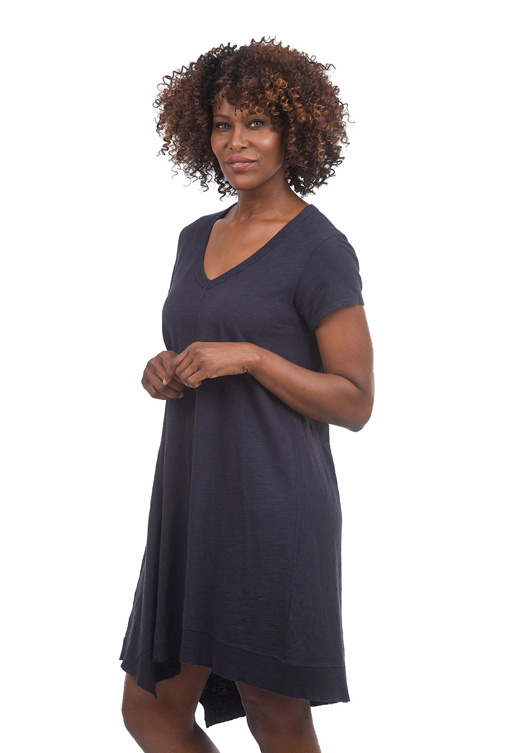 Wilt Seamed Twisted V-Neck Dress, Twilight Blue