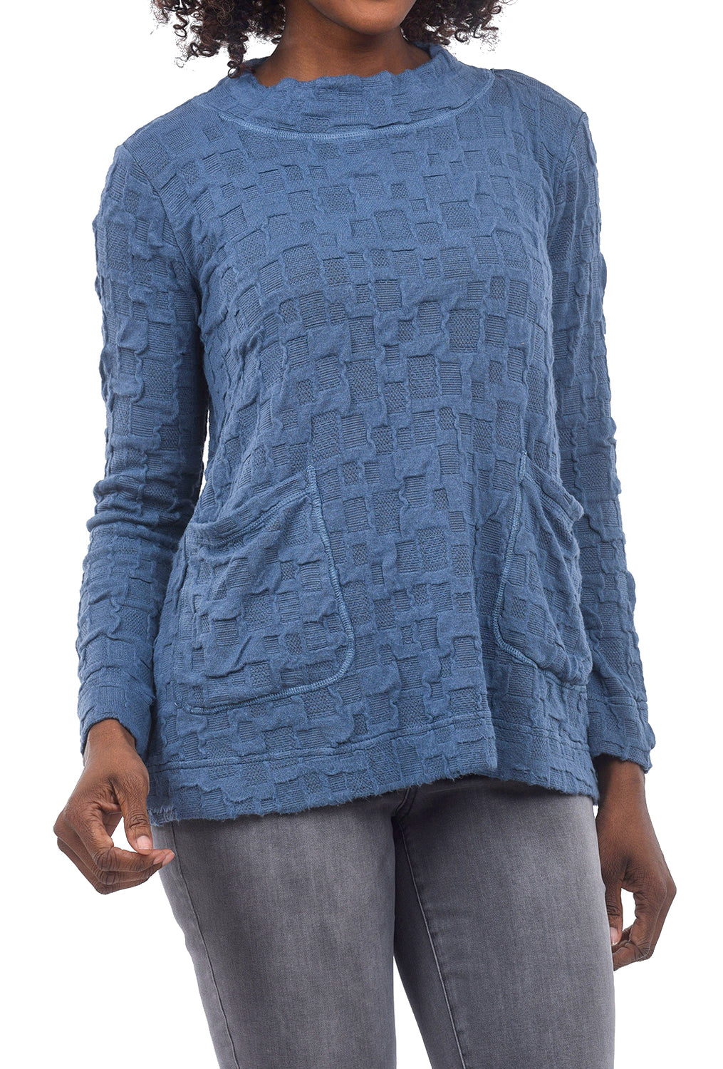 Cut Loose Pucker Pocket Sweater, Blueprint