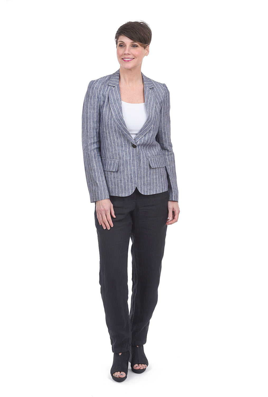 The Korner Boyfriend Blazer, Blue
