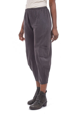 Fenini Flat Front Crop Pants, Espresso Brown