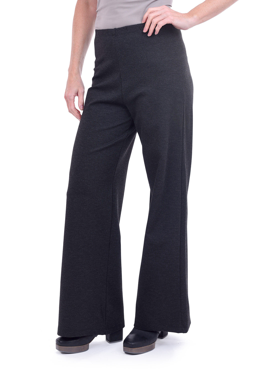 Bryn Walker Knit Palazzo Pants, Gray