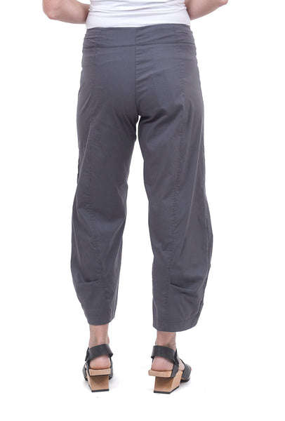 Sun Kim Two-Pocket Ankle Pants, Slate Gray