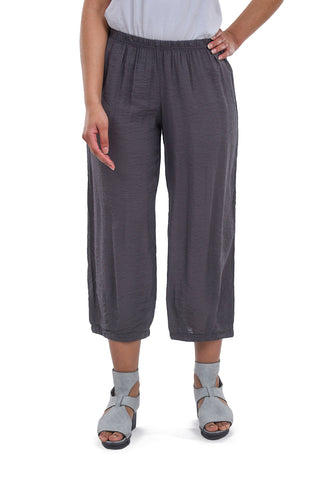 Cut Loose Parachute Cropped Pants, Iron Gray
