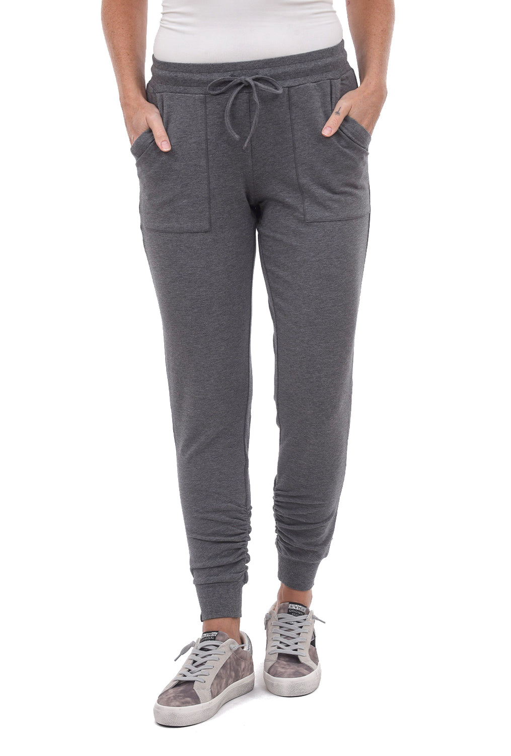Barefoot Dreams Luxe Lounge Scrunch Jogger, Heather Gray