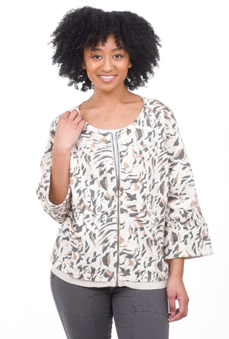 XCVI Ginger Zip Jacket, Toasted Almond