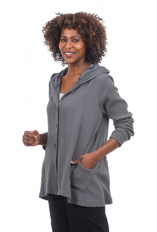 Fenini Crinkle FT Hooded Jacket, Coal