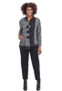 Moonlight Crinkle Knit Placket Jacket, Gray