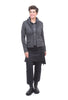 Baci Double-Layered Knit Jacket, Cement Gray