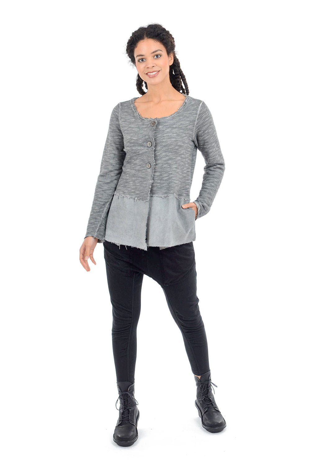 Luukaa Margaret French Terry Jacket, Gray