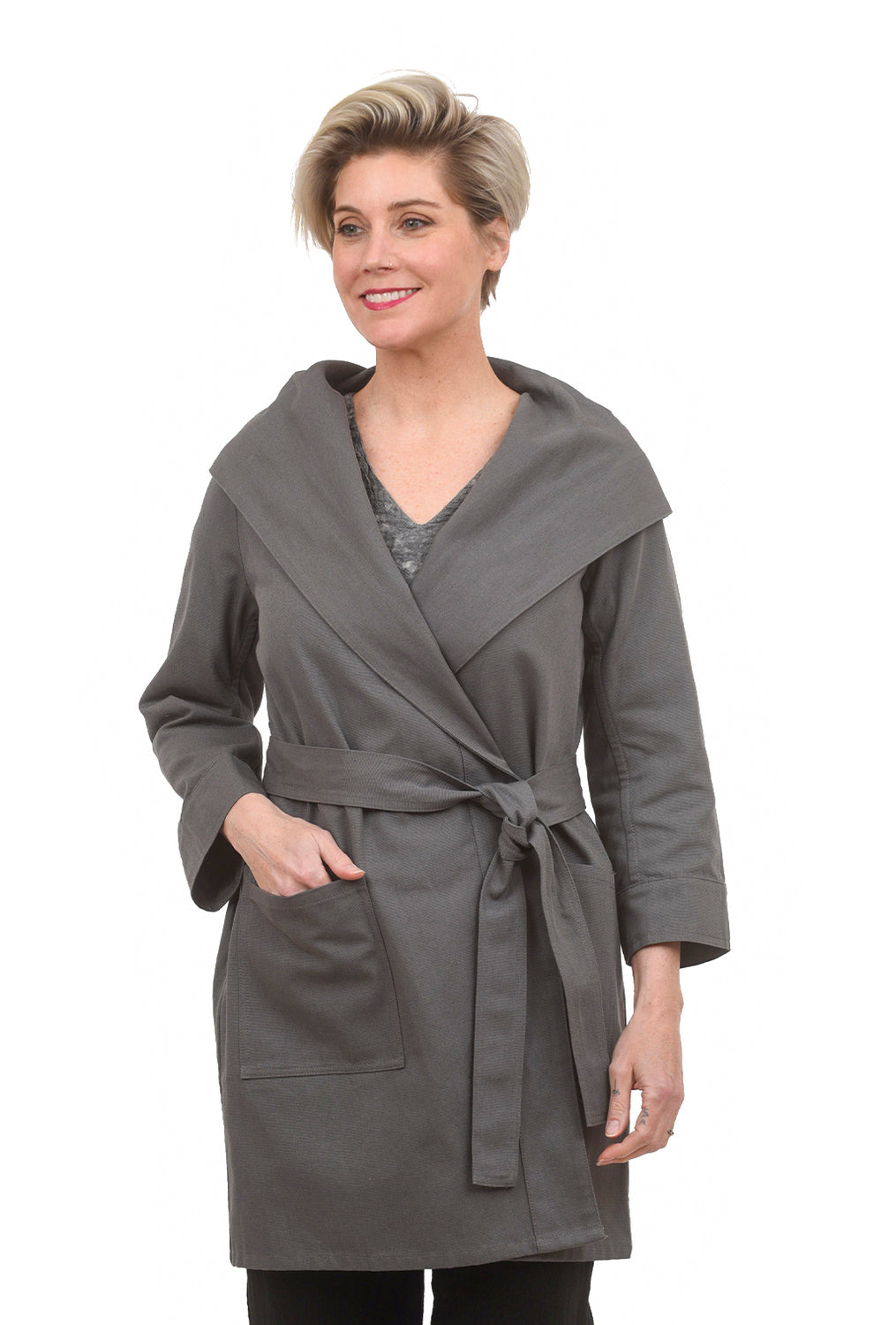 Beyond Threads Canvas Robin Jacket, Koala Gray