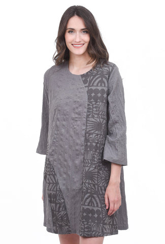 Mao Mam Mao Mam Poli Patch Dress, Gray One Size Gray