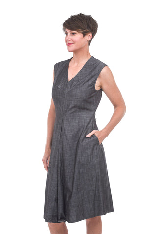 Austin Dress, Black Chambray