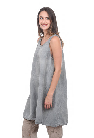 Magnolia Pearl Othilia Smock Dress, Concrete Gray One Size Gray