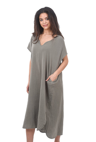 Stark x Pleated Back Caftan, Army