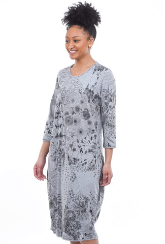 Grizas Knit Doodle Dress, Gray