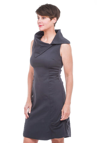 Porto Gigi Dress, Gravel Gray