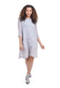 Cynthia Ashby Enno Linen Dress, Silver