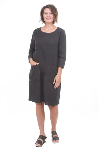 Cut Loose Natural Linen Smock Dress, Pavement