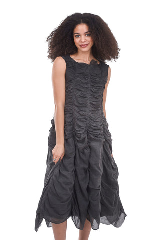 Rundholz DIP Crimped Mimi Dress, Charcoal Carbon