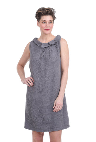 Porto Gauze Origami Dress, Opal Gray