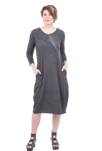 Luukaa Jasmine Garment-Dye Dress, Anthracite