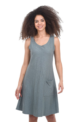 Cut Loose Slub Cotton Pocket Dress, Flagstone