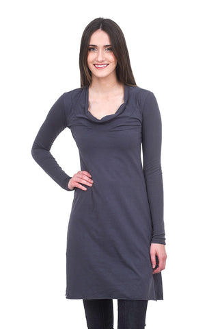L/S Falconet Dress, Tattoo Blue