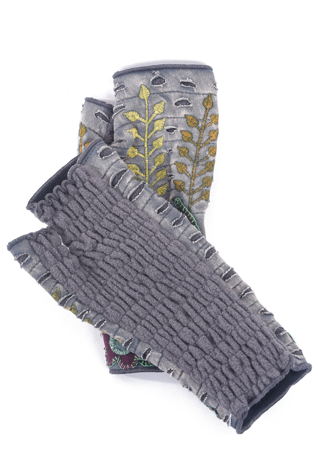 Rising Tide Harvest Fingerless Gloves, Gray One Size Gray