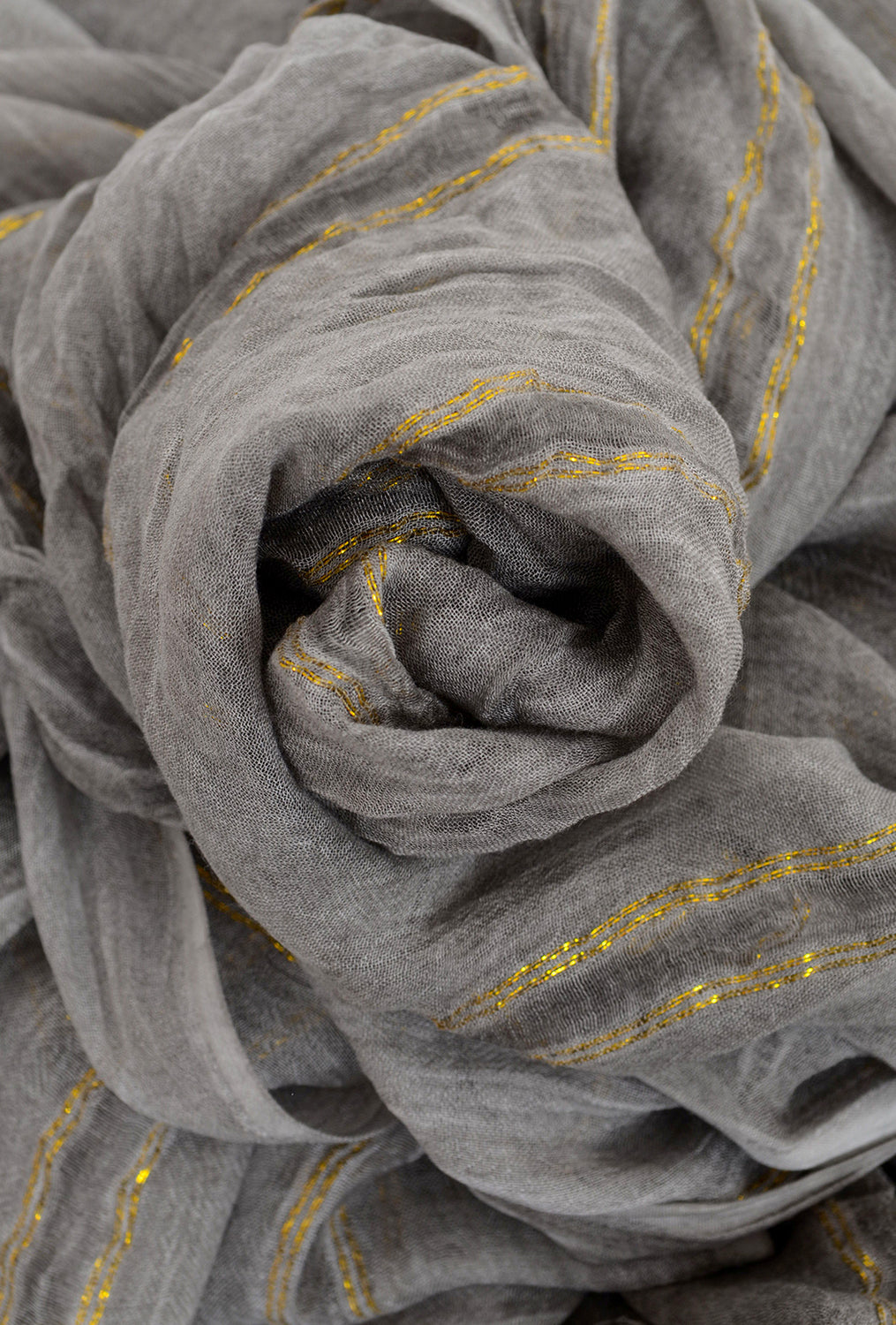 Paisley Road Lurex Accents Scarf, Gray Stripe